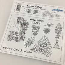 Creative Expressions Festive Village Christmas U-Mount Rubber Stamps