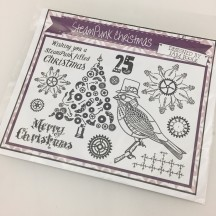 Creative Expressions Steampunk Christmas U-Mount Rubber Stamps by Sam Poole