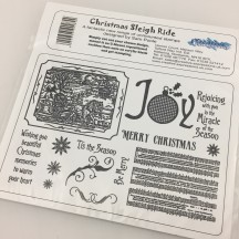 Creative Expressions Christmas Sleigh Ride U-Mount Rubber Stamps