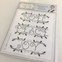 Sentimentally Yours A5 Clear Stamps by Phill Martin - Christmas Holly Decorative Sentiments - SYCHDS