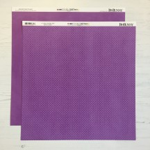 """Bo Bunny Violet Double Dot DoubleDot Double-sided 12""""x12"""" Open Cardstock - 12VD617"""