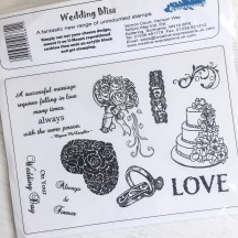 Creative Expressions U-Mount Rubber Stamps - Wedding Bliss