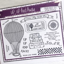 Creative Expressions Up, Up and Away U-Mount Rubber Stamps
