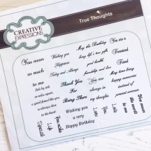 Creative Expressions True Thoughts Sentiments U-Mount Rubber Stamps