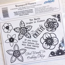 Creative Expressions U-Mount Rubber Stamps - Steampunk Flowers