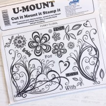 Creative Expressions U-Mount Rubber Stamps - Funky Floral