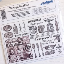 Creative Expressions U-Mount Rubber Stamps - Vintage Cooking