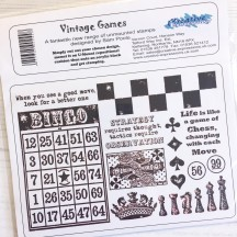Creative Expressions U-Mount Rubber Stamps - Vintage Games