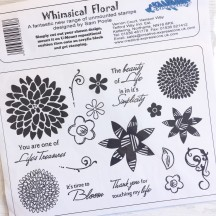 Creative Expressions U-Mount Rubber Stamps - Whimsical Floral