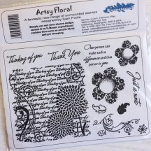Creative Expressions U-Mount Rubber Stamps - Artsy Floral