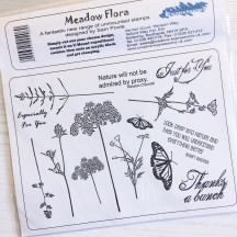 Creative Expressions U-Mount Rubber Stamps - Meadow Flora