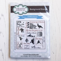 """Creative Expressions 12 Days Background 4""""x4"""" Cling Stamp UMS647"""