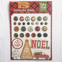 Echo Park Celebrate Christmas Decorative Brads & Chipboard Pieces CCH159020