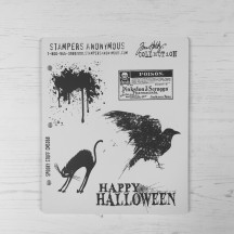 Stampers Anonymous Tim Holtz Cling Mount Stamps - Spooky Stuff CMS068