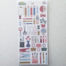 Pinkfresh Studio Office Hours Chipboard Stickers RC401219