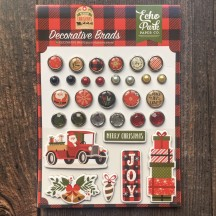 Echo Park My Favorite Christmas Decorative Brads & Chipboard Pieces MFC190020