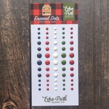 Echo Park My Favorite Christmas Enamel Dots grey red white green MFC190028