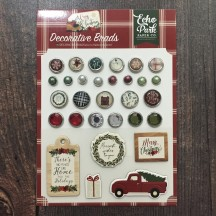 Echo Park A Cozy Christmas Decorative Brads & Chipboard Pieces ACC189020