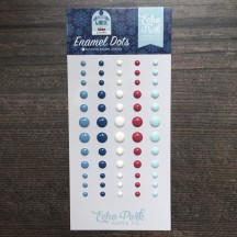 Echo Park My Favorite Winter Enamel Dots blue, white, red MFW193028