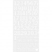 "Kaisercraft White 6""x12"" Cardstock Number Sticker Sheet AS261"