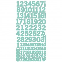 "Kaisercraft Sea Green 6""x12"" Cardstock Number Sticker Sheet AS264"