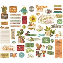 Simple Stories Simple Vintage Autumn Splendor Bits & Pieces Die-Cut Cardstock Embellishments 11220