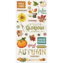 Simple Stories Simple Vintage Autumn Splendor Self Adhesive Chipboard Shape Stickers 11219