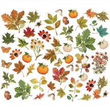 Simple Stories Simple Vintage Autumn Splendor Foliage Bits & Pieces Die-Cut Cardstock Embellishments 11221