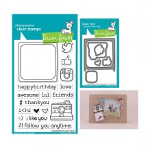 Lawn Fawn #awesome Clear Stamp & Cutting Die Set LF652 LF659