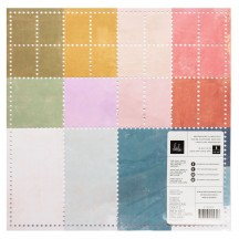 "Heidi Swapp Old School 12""x12"" Speciality Perforated Cardstock 315532"