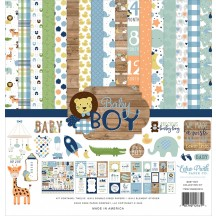 "Echo Park Baby Boy 12""x12"" Collection Kit BAB203016"