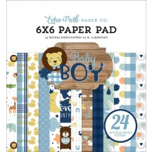 "Echo Park Baby Boy 6""x6"" Double-Sided Paper Pad 24 Sheets BAB203023"