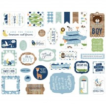 Echo Park Baby Boy Ephemera Die Cut Cardstock Pieces BAB203024