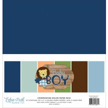 "Echo Park Baby Boy 12""x12"" Solids Paper Kit BAB203015"