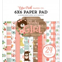 "Echo Park Baby Girl 6""x6"" Double-Sided Paper Pad 24 Sheets BAG202023"