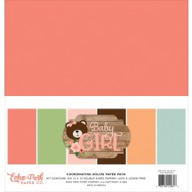 "Echo Park Baby Girl 12""x12"" Solids Paper Kit BAG202015"