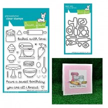 Lawn Fawn Baked With Love Clear Stamps & Die Set LF805 LF806