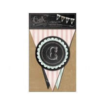 My Mind's Eye Chalk Studio Decorative Banner Kit with Layered Accents CS1014