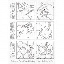 My Favorite Things Birdie Brown Picture Perfect Party Animals Clear Stamps BB-106