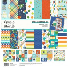 "Simple Stories Birthday Blast 12""x12"" Collection Kit 12800"