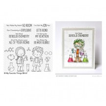 My Favorite Things Birdie Brown Cute Chemists Clear Stamps BB-67