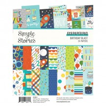 "Simple Stories Birthday Blast 6""x8"" Double-Sided Paper Pad 12814"