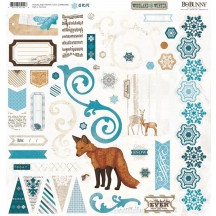 Bo Bunny Woodland Winter Self Adhesive Chipboard Accents 15515144