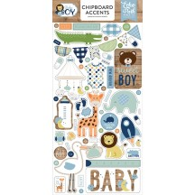 Echo Park Baby Boy Self Adhesive Chipboard Accents Stickers BAB206021