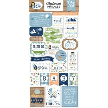 Echo Park Baby Boy Self Adhesive Chipboard Phrases Stickers BAB206022