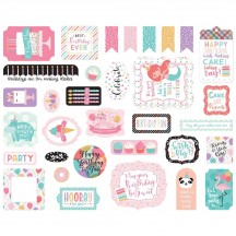 Echo Park It's Your Birthday Girl Ephemera Die Cut Cardstock Pieces TBG200024