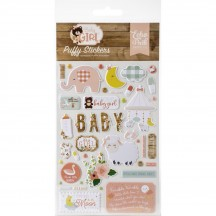 Echo Park Baby Girl Puffy Icon Stickers BAG202066