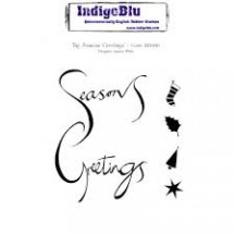 IndigoBlu Big Seasons Greetings A6 Christmas Cling Mounted Rubber Stamp IND0130