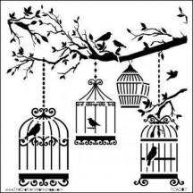 The Crafters Workshop 6x6 Template - Birds of a Feather