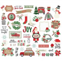 Simple Stories Merry & Bright Christmas Bits & Pieces Die-Cut Cardstock Ephemera Pieces 10321